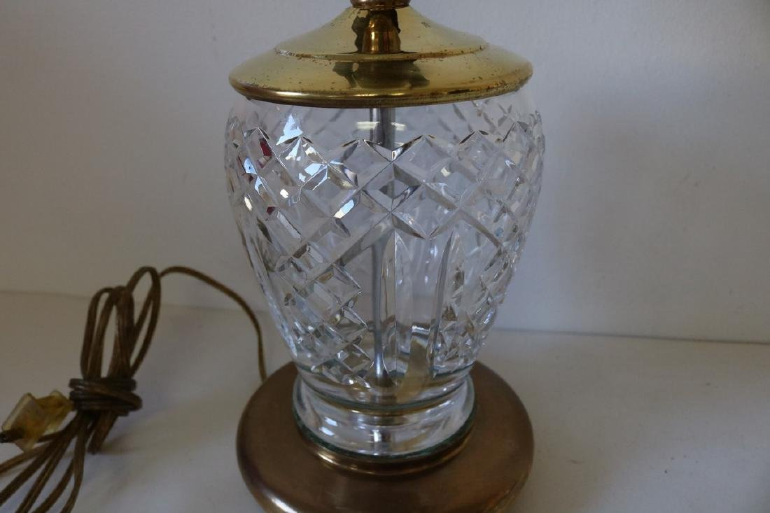 Waterford Crystal Boudoir electric Lamp with Brass - 2