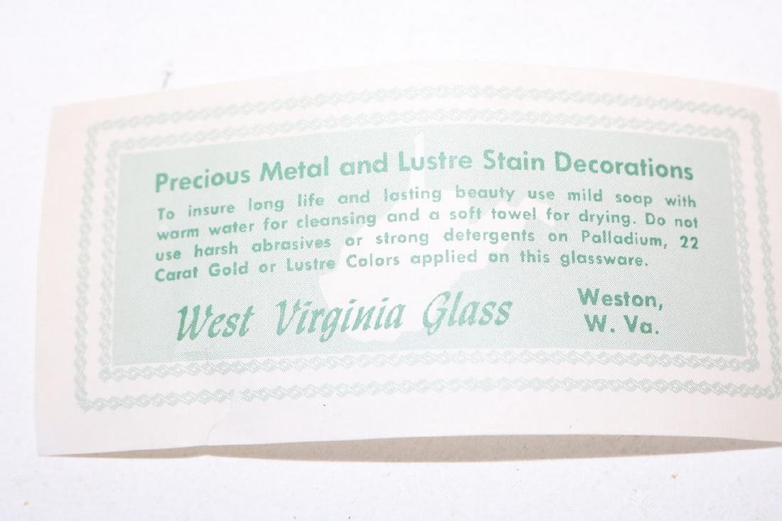 West Virginia Glass Co. Pitcher & 6 Glasses, Lemonade - 3