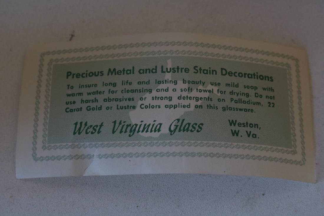West Virginia Glass Co. Pitcher & 6 Glasses, Lemonade - 4