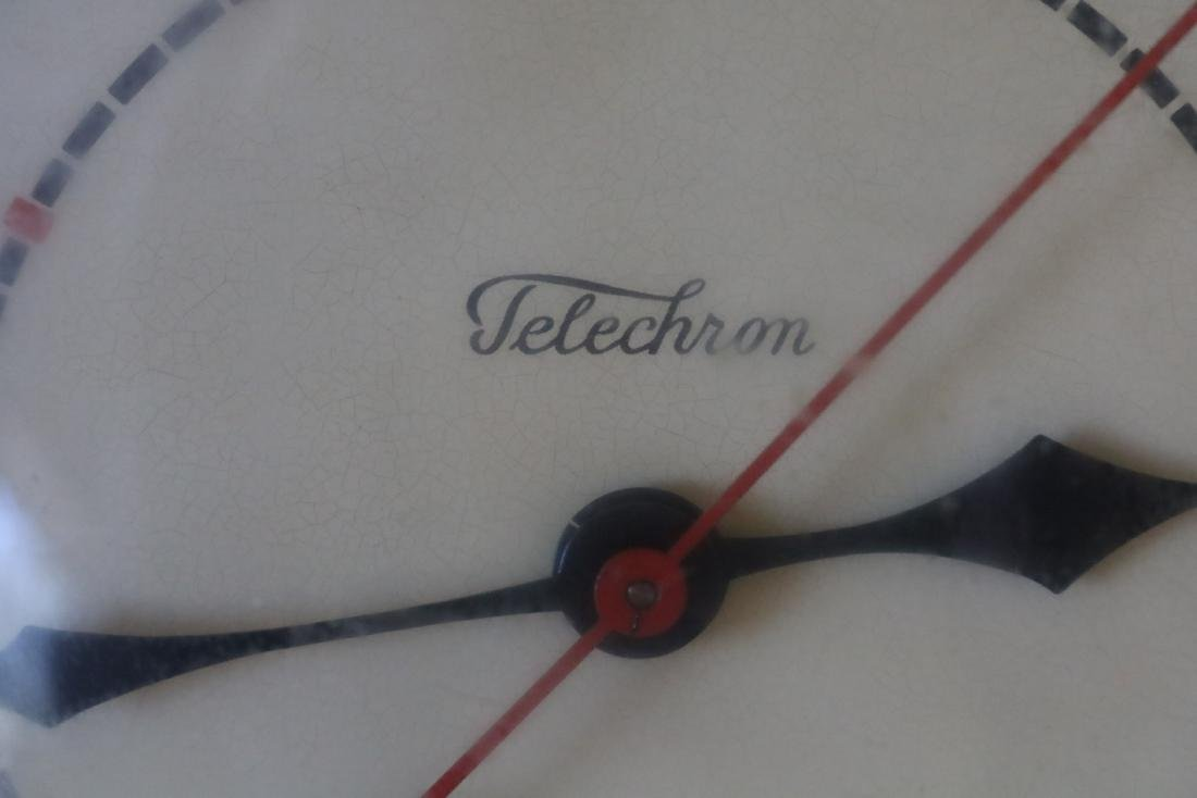 1950's Telechron Wall Clock in Red - 2