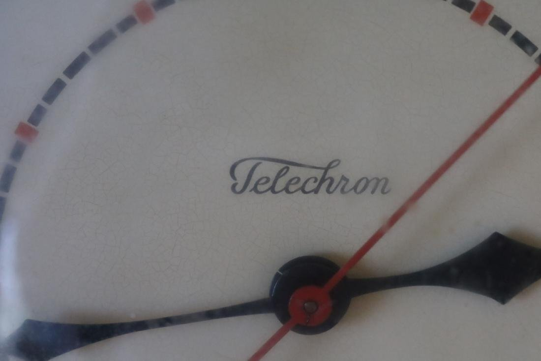 1950's Telechron Wall Clock in Red - 3