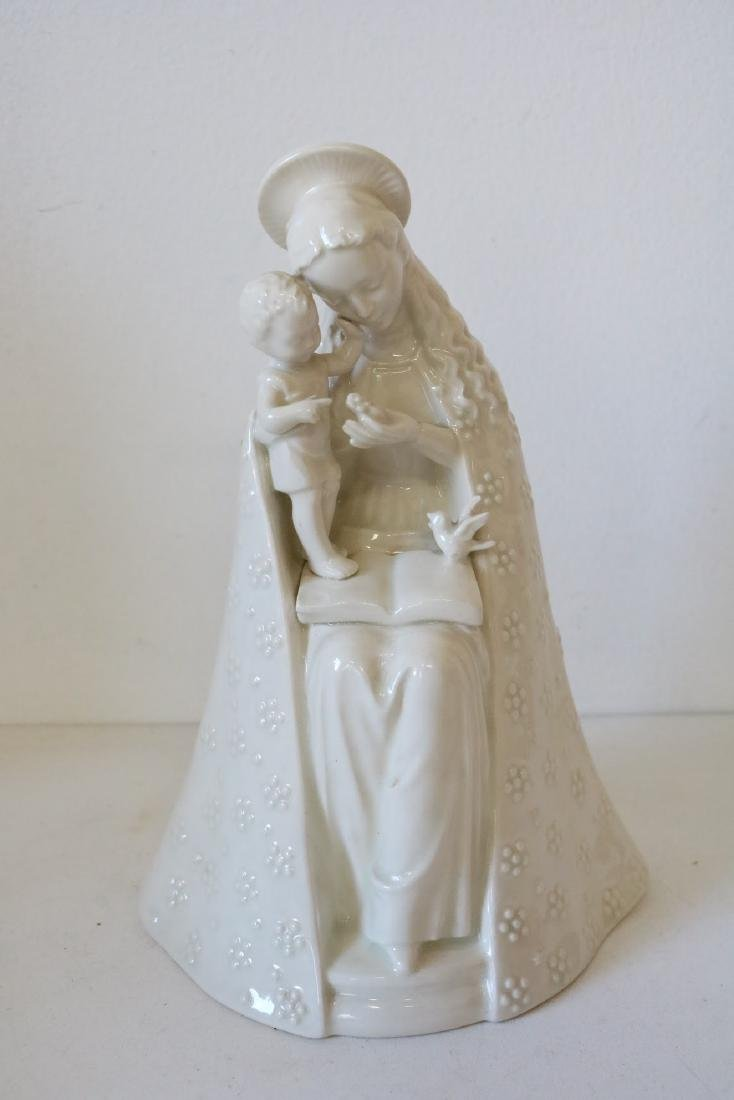 Hummel Seated Madonna with Child in White