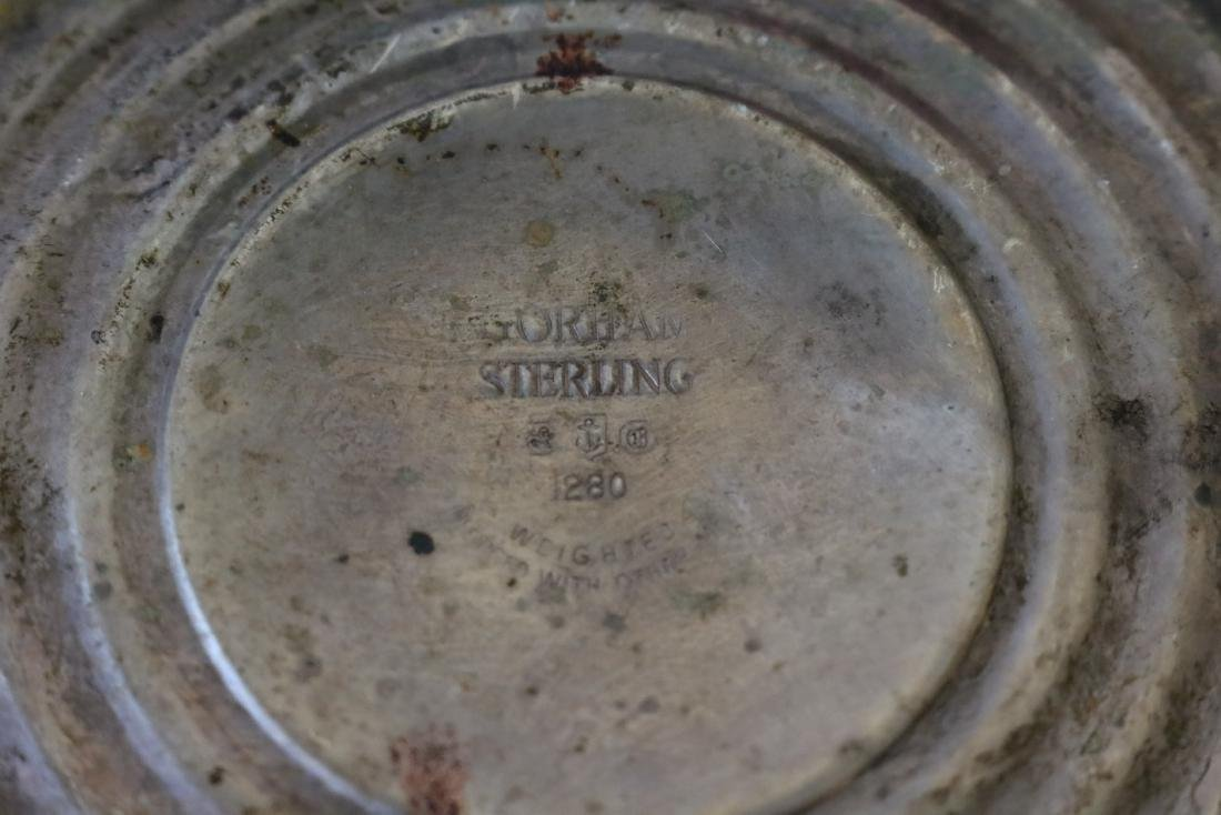 Sterling & Cranberry Candle Holders - 3