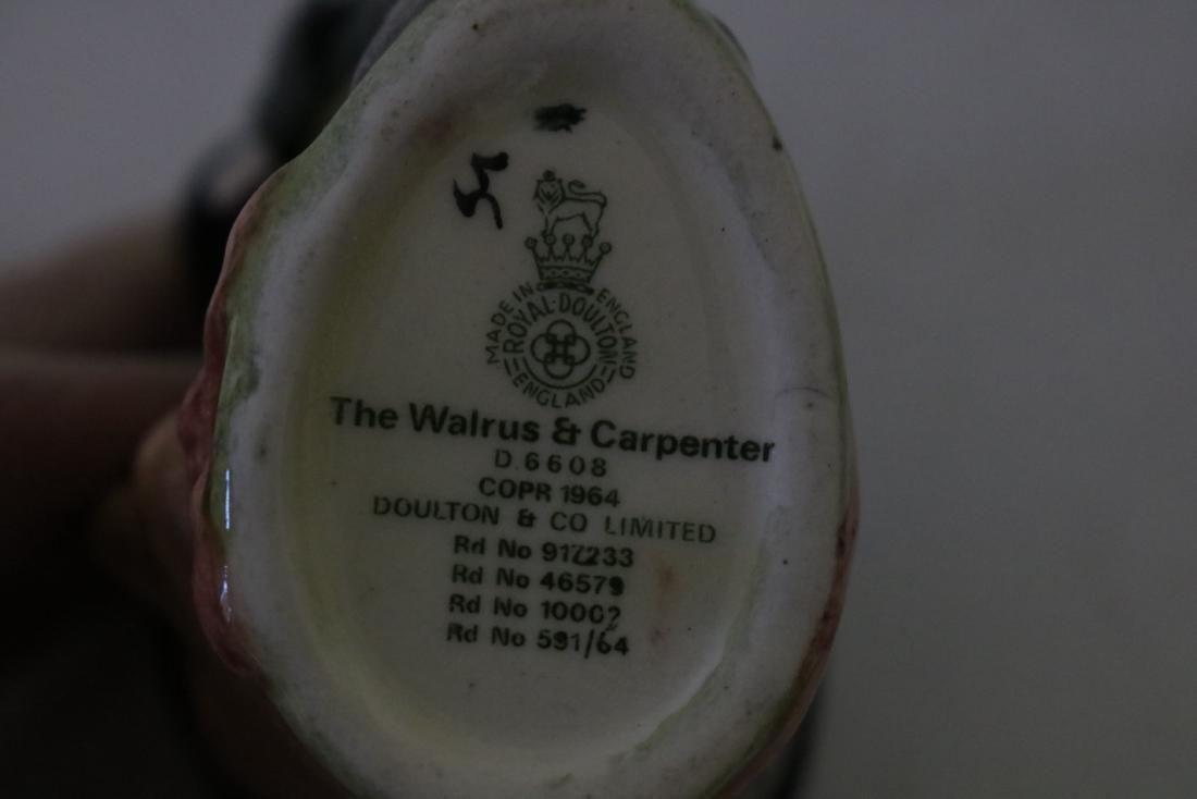 Royal Doulton Toby Mug, D6608, The Walrus & Carpenter - 3