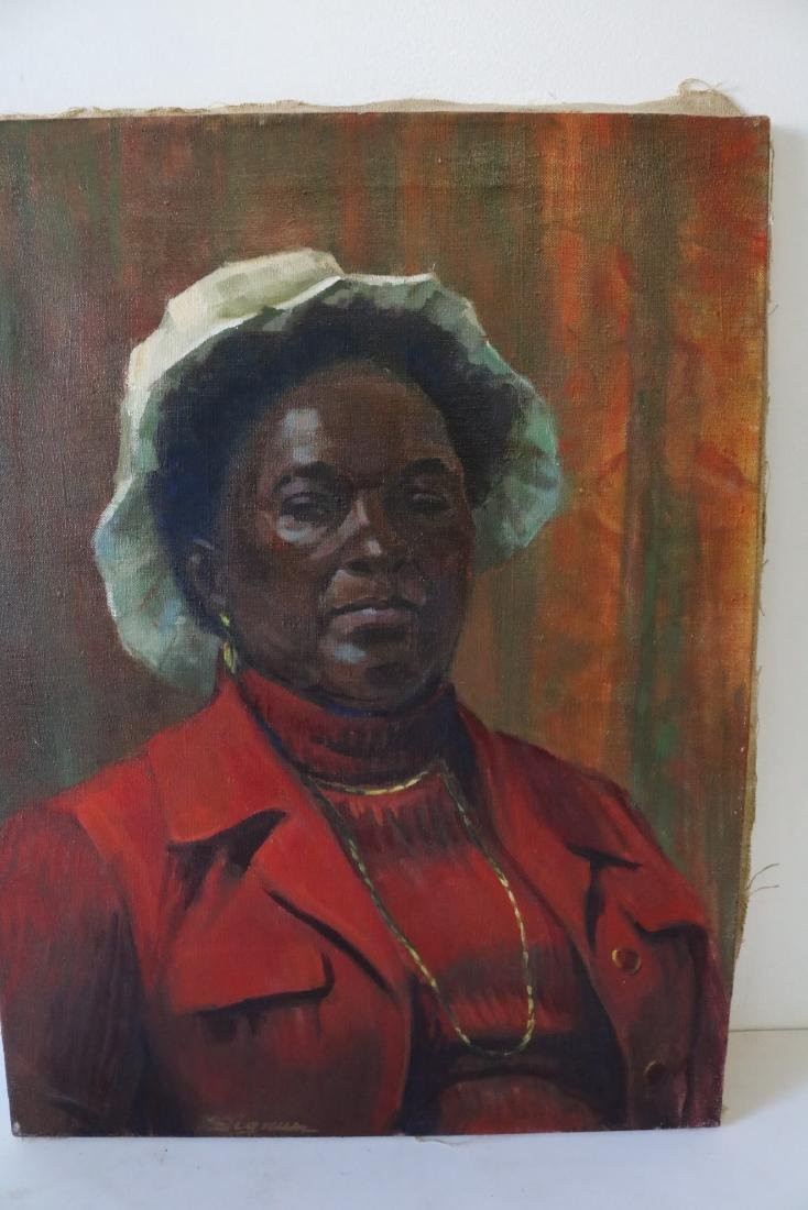 African American Woman Painting by Taylor Sigrun