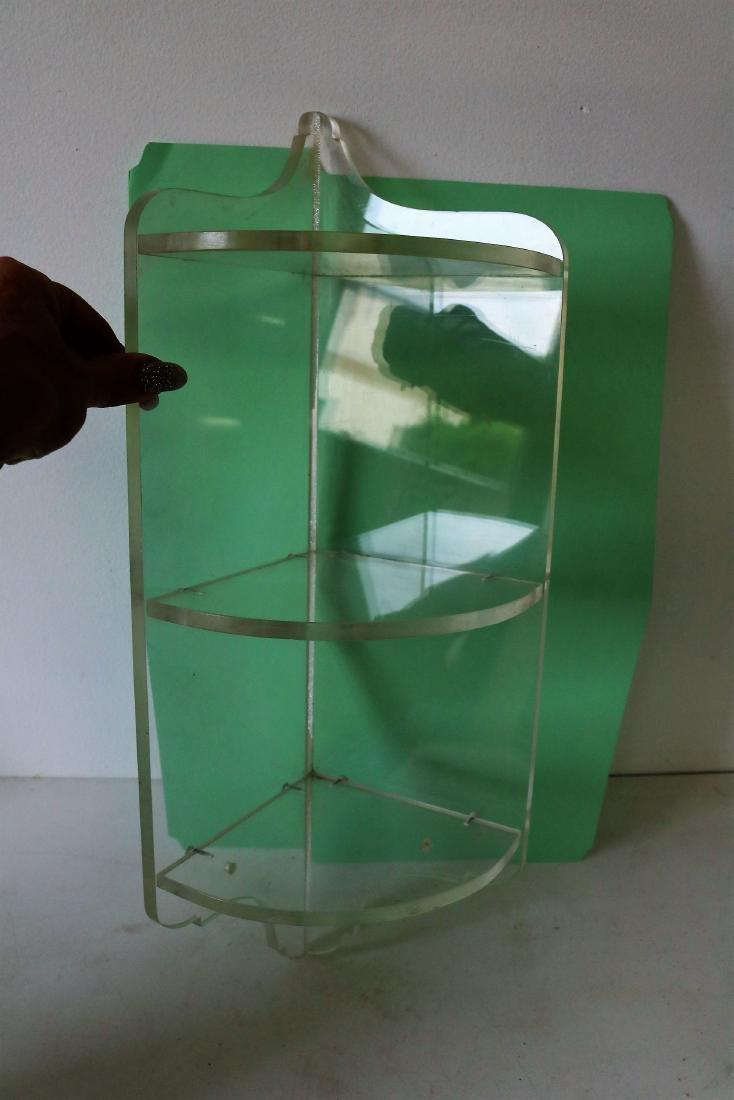 Vintage Lucite Small Corner Shelf