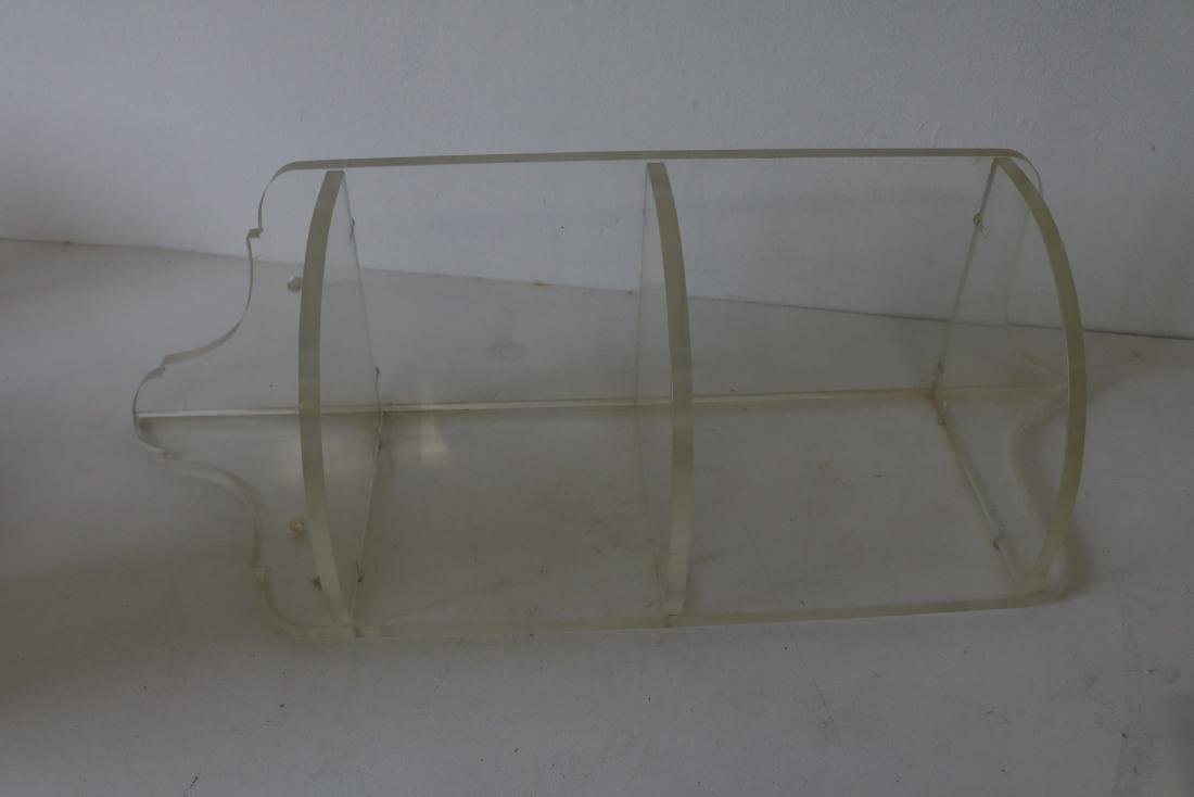 Vintage Lucite Small Corner Shelf - 2