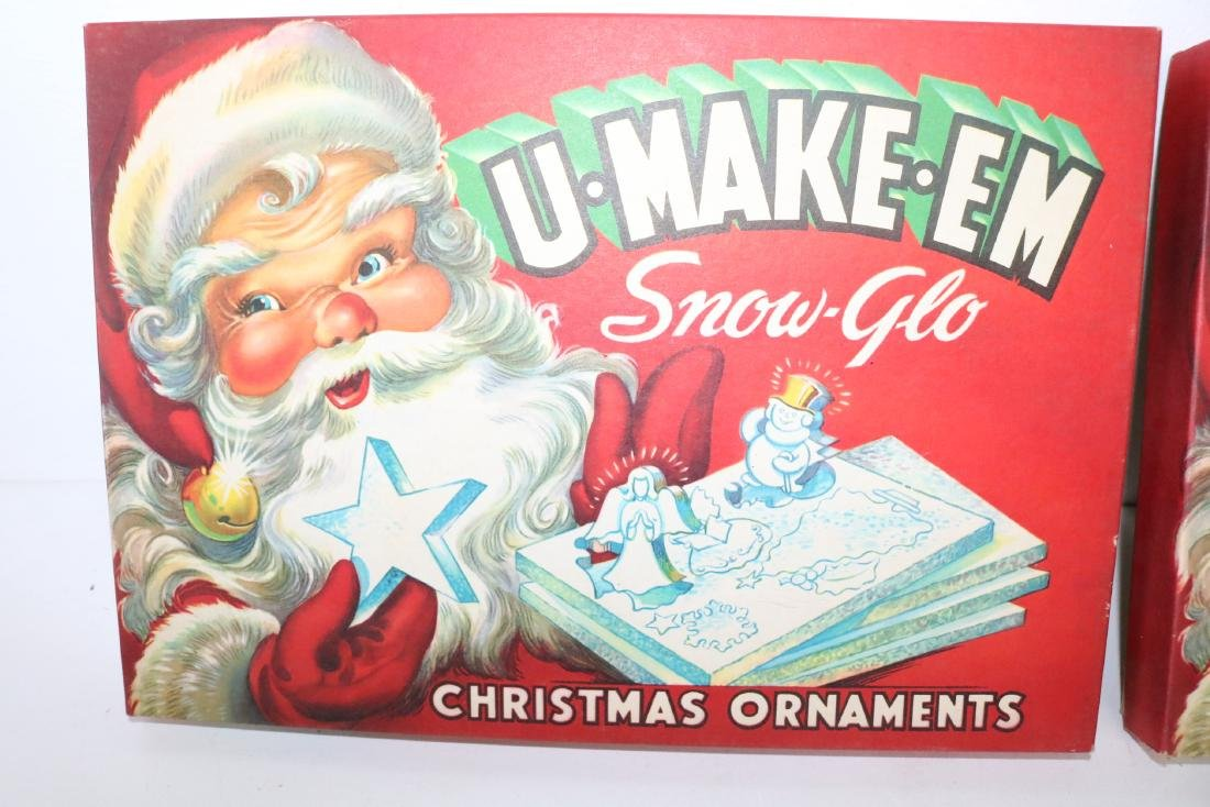 1950's U-Make-Em Snow-Glo Christmas Ornaments in - 2