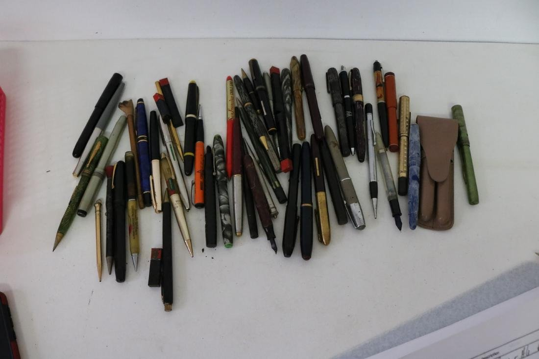 Lot of Vintage Fountain Pens, Mechanical Pencils