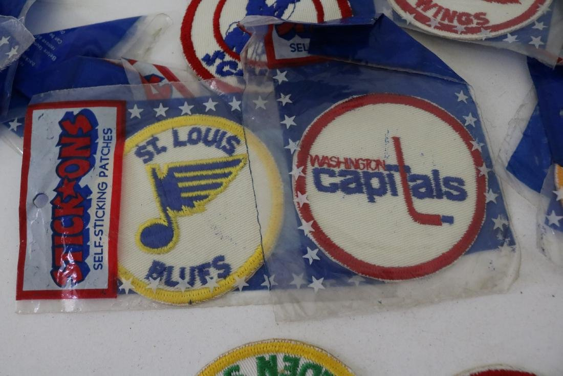 Lot 30 plus Vintage Hockey Iron on Patches - 4