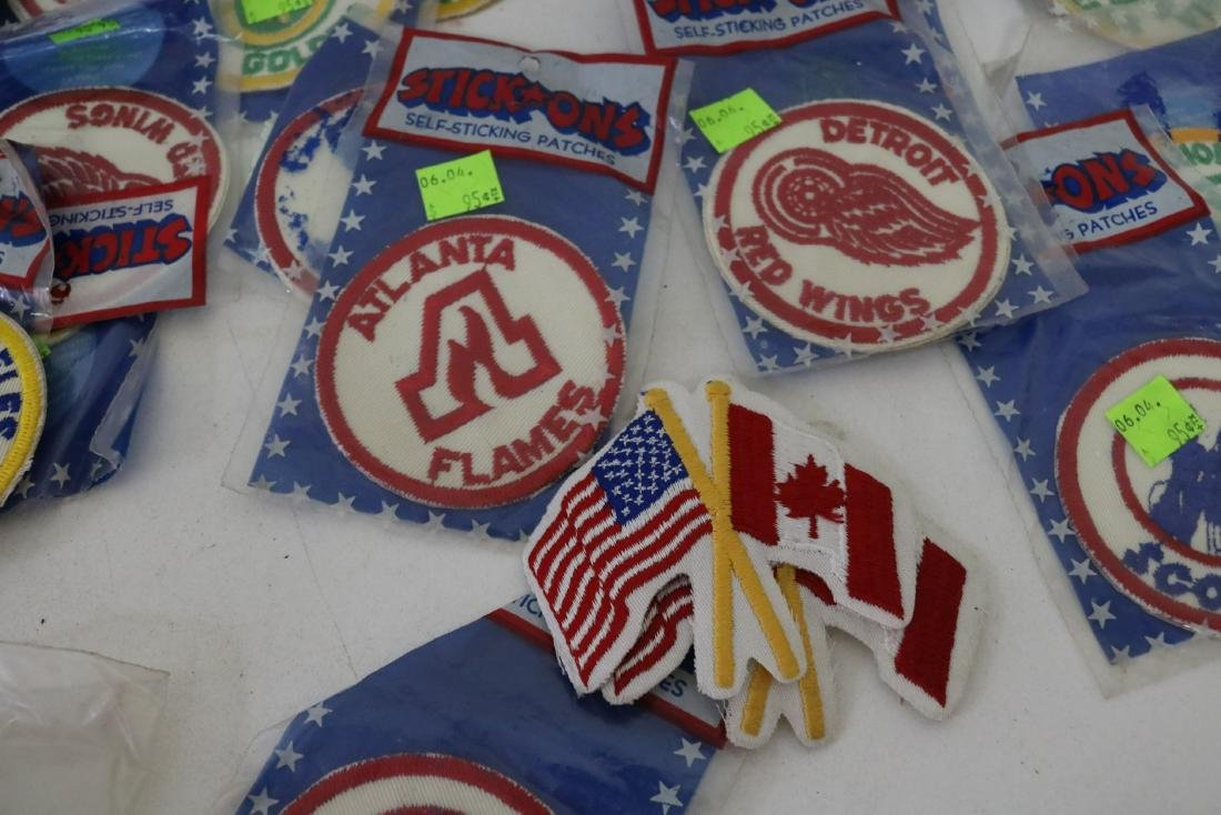 Lot 30 plus Vintage Hockey Iron on Patches - 6