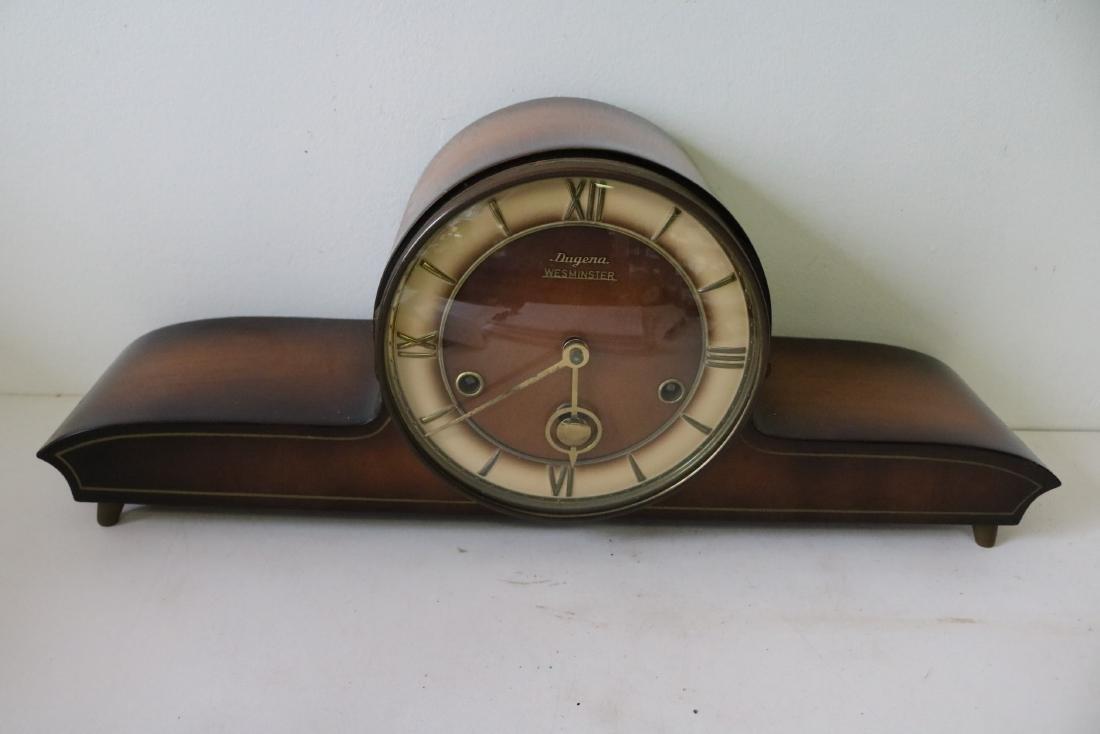 Dugena Westminister Mid-Century Mantel Clock
