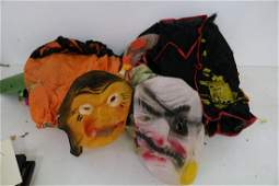 Lot of Vintage Costumes  2 Fabric Masks