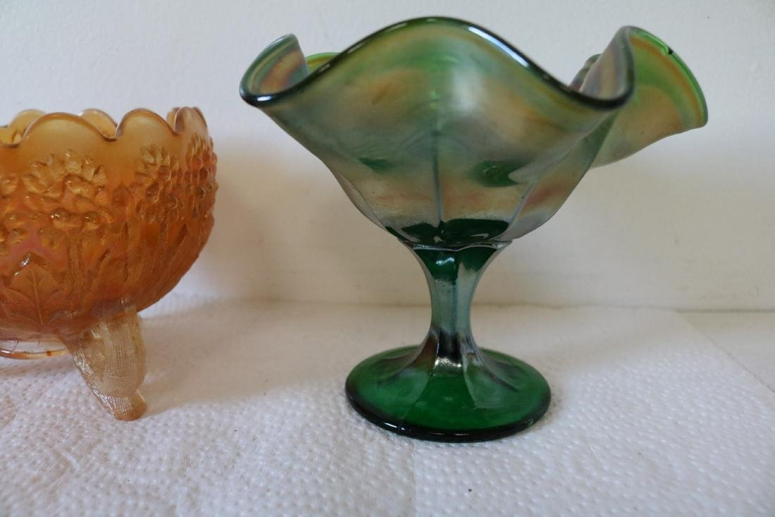 2 pieces Carnival Glass - 3