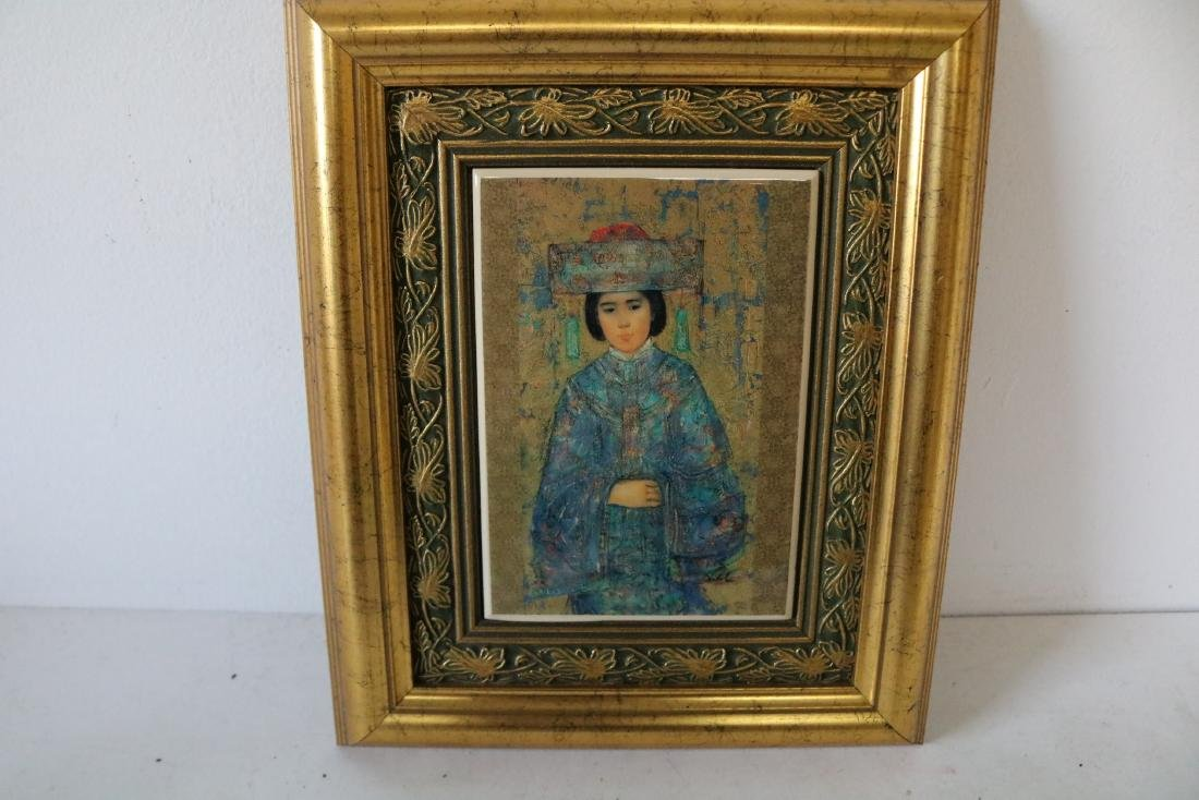 Edna Hibel Framed Tile