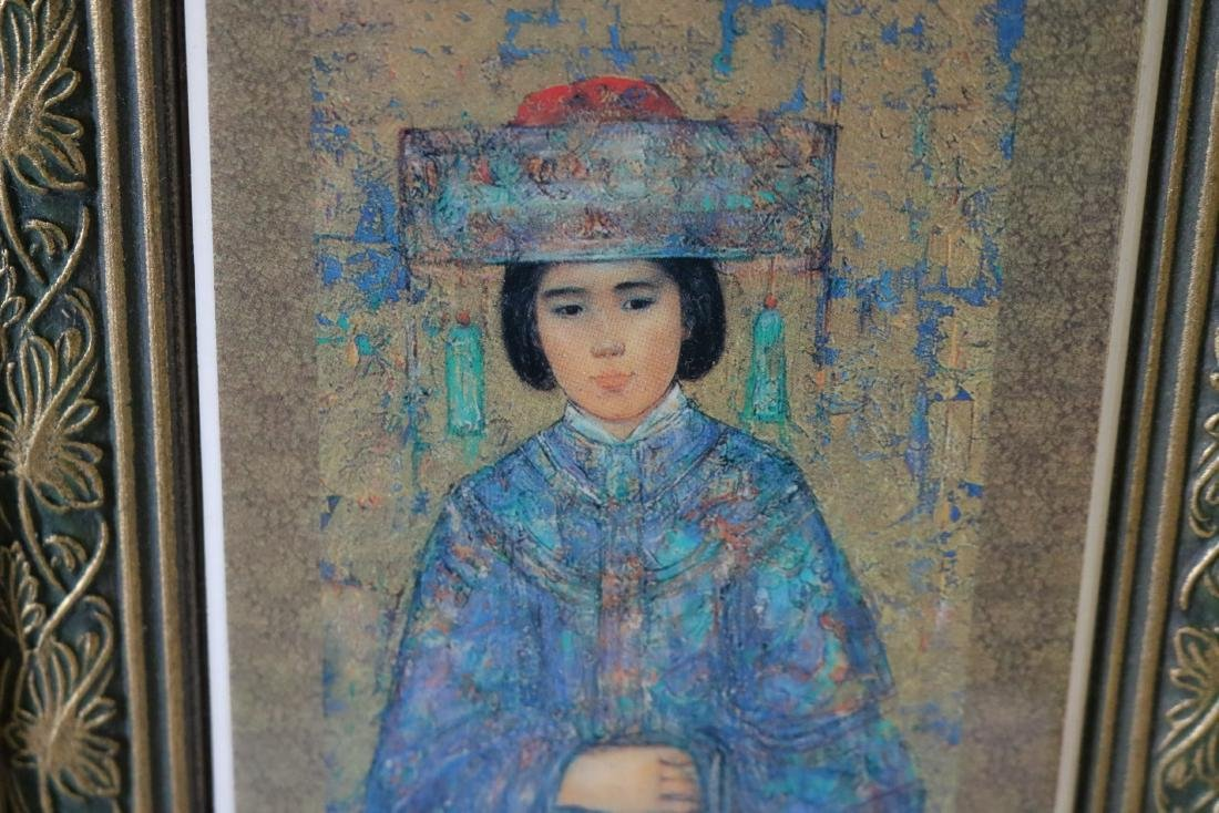 Edna Hibel Framed Tile - 2