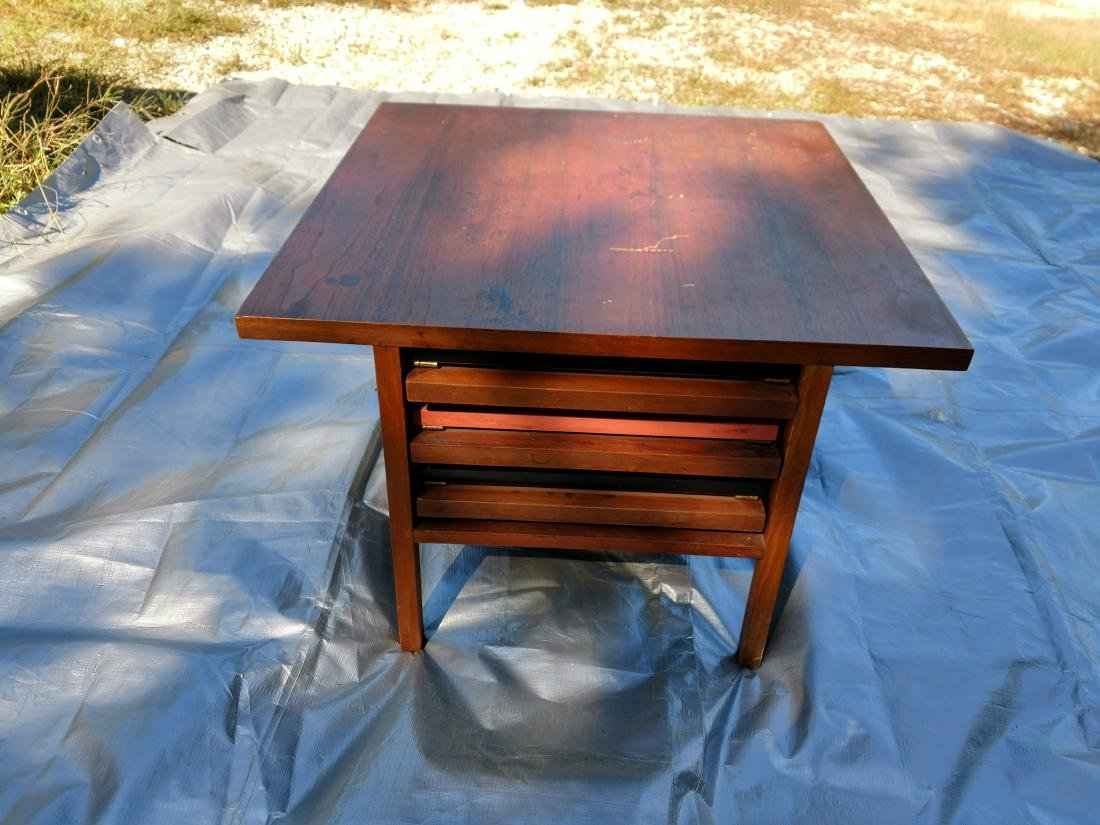 Mid-Century Teak Coffee/End Table with 3 Folding Tables - 10