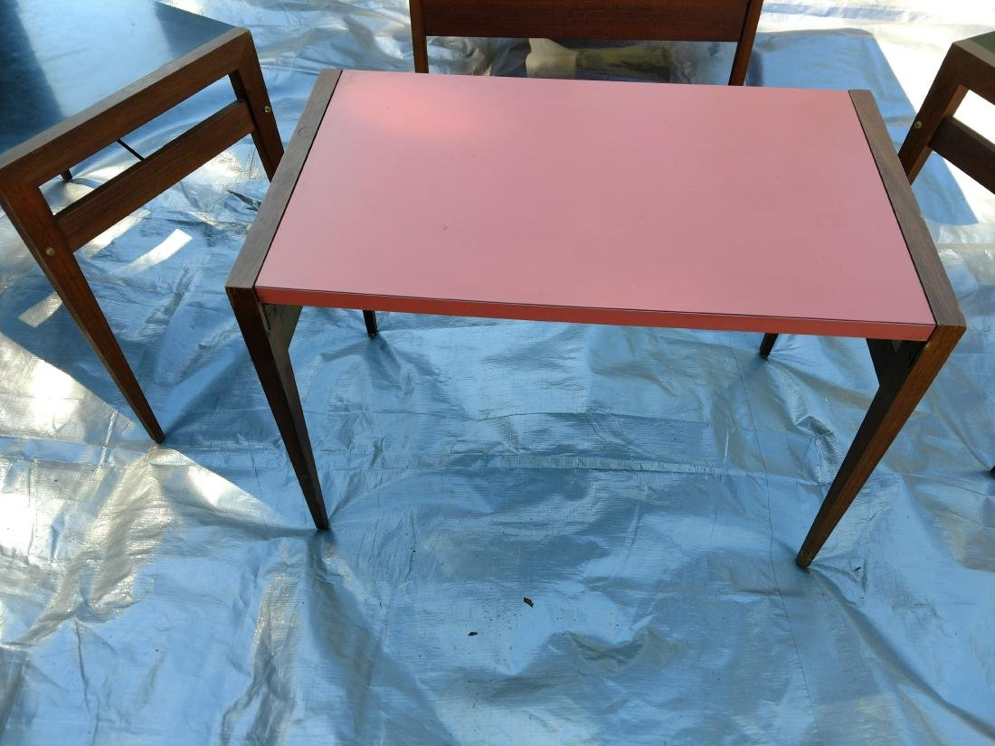 Mid-Century Teak Coffee/End Table with 3 Folding Tables - 2