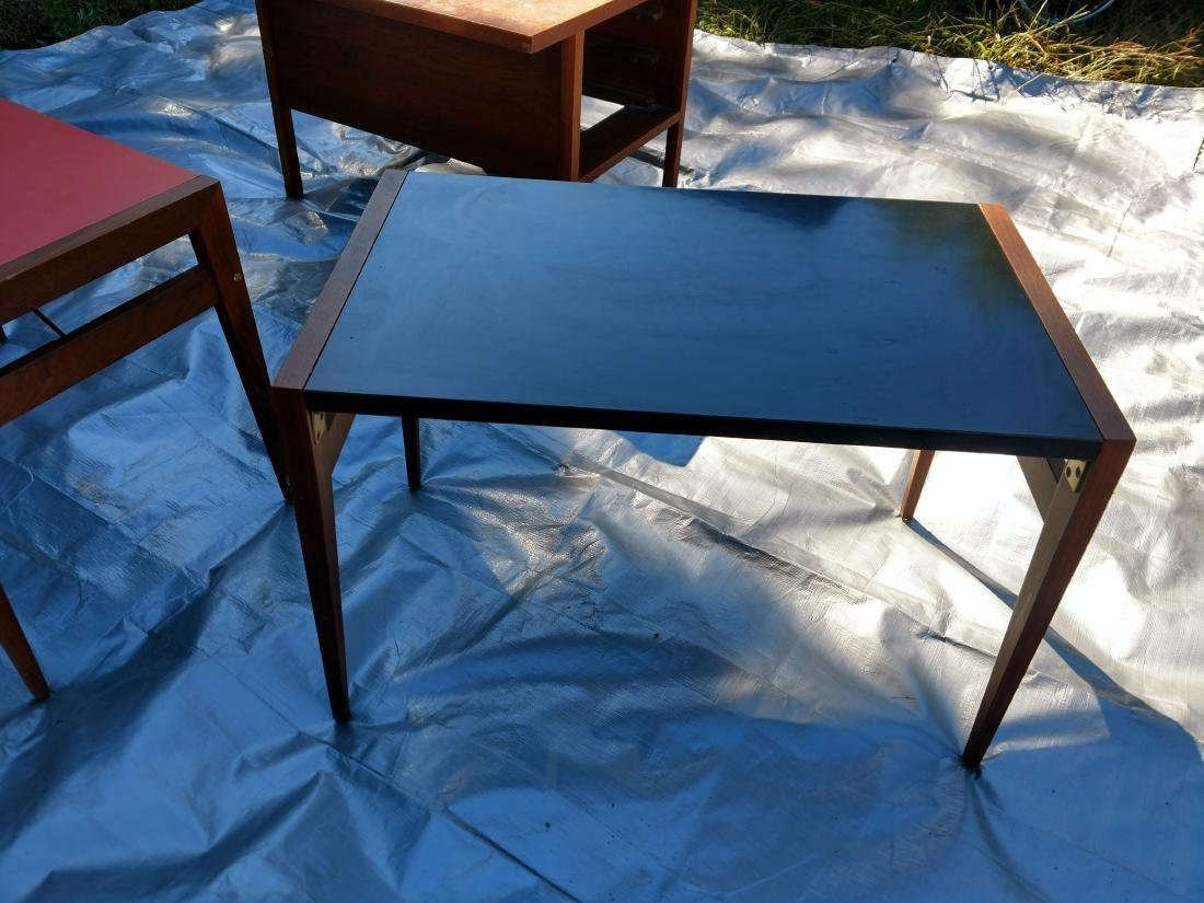 Mid-Century Teak Coffee/End Table with 3 Folding Tables - 3