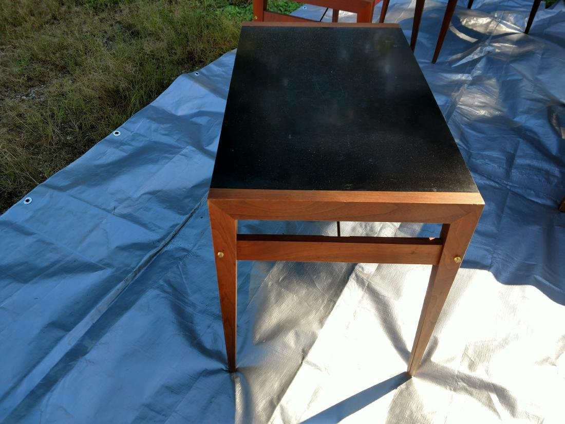 Mid-Century Teak Coffee/End Table with 3 Folding Tables - 4