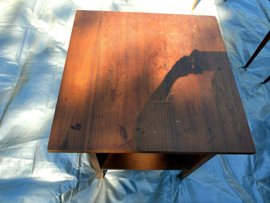Mid-Century Teak Coffee/End Table with 3 Folding Tables - 8