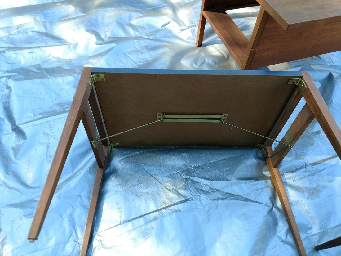 Mid-Century Teak Coffee/End Table with 3 Folding Tables - 9