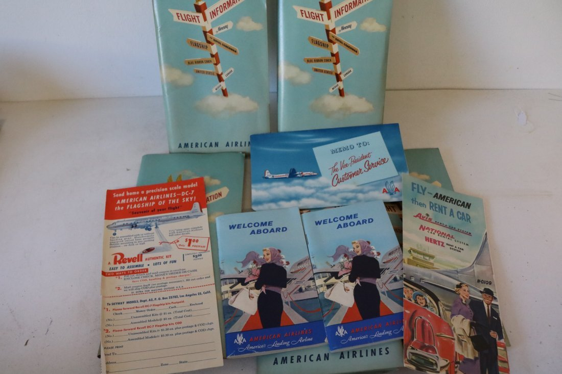 American Airlines 1957 Welcome Packets
