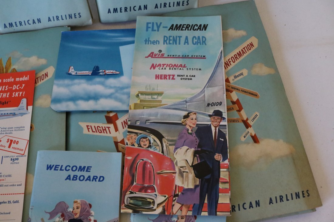 American Airlines 1957 Welcome Packets - 4