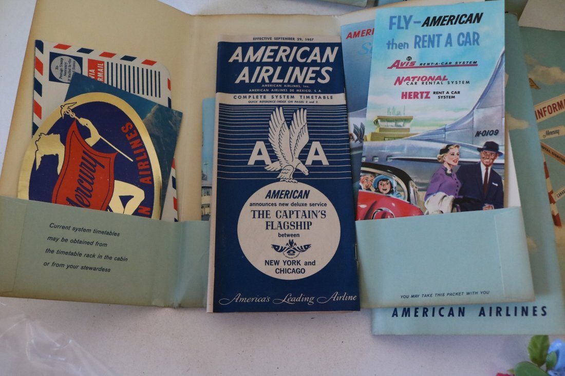 American Airlines 1957 Welcome Packets - 6