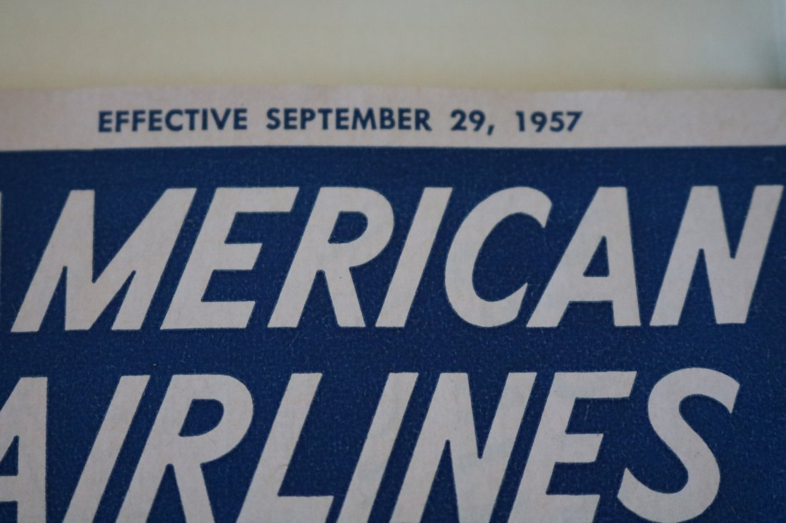 American Airlines 1957 Welcome Packets - 7