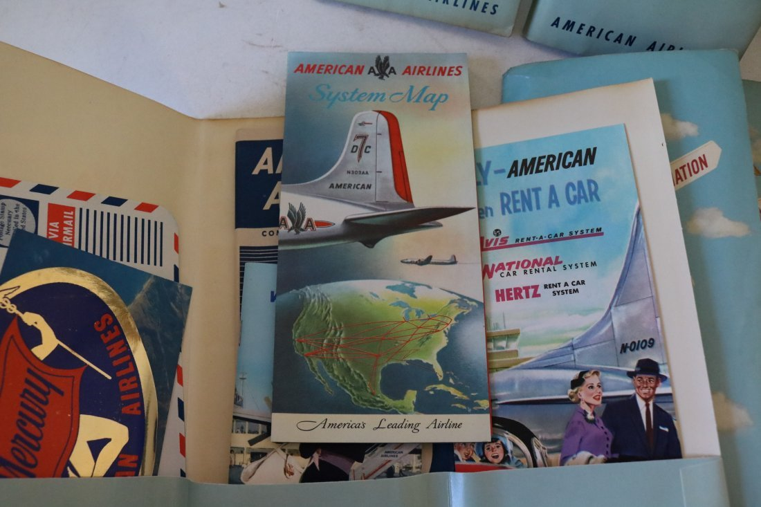 American Airlines 1957 Welcome Packets - 8