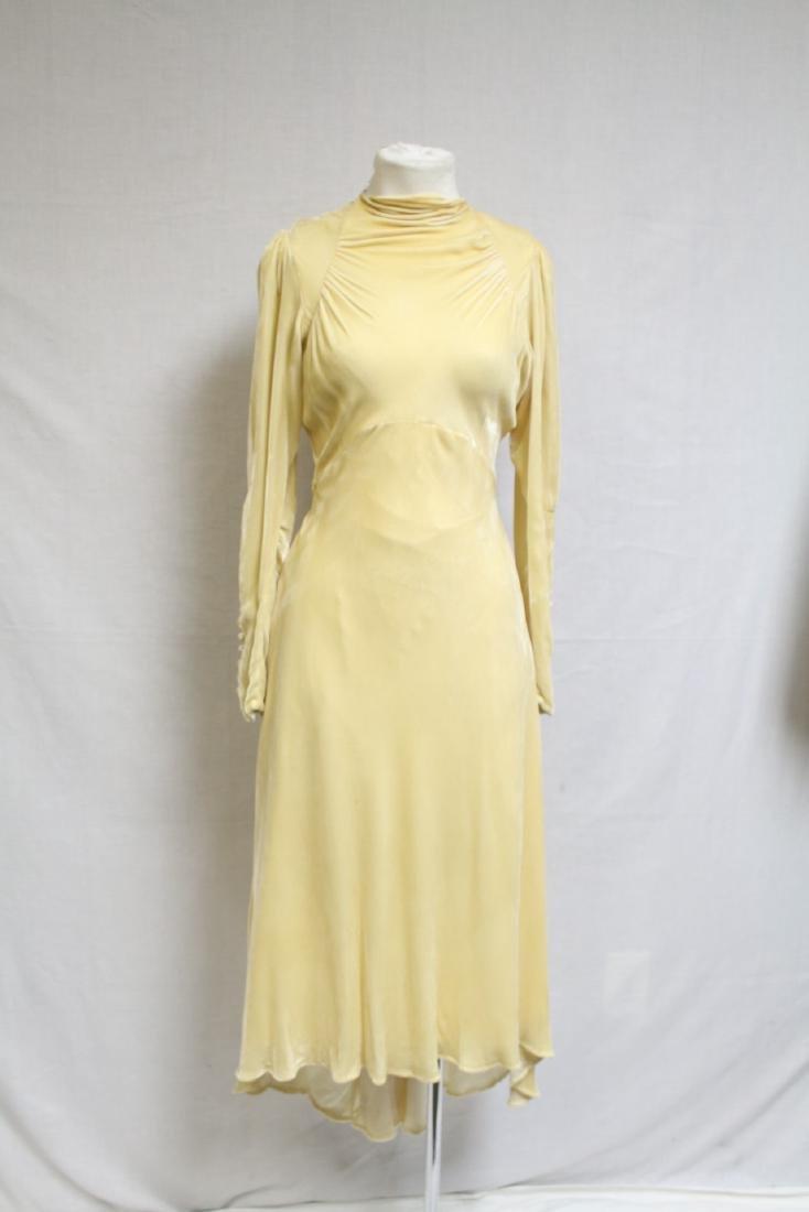 1930s Silk Velvet Wedding Gown