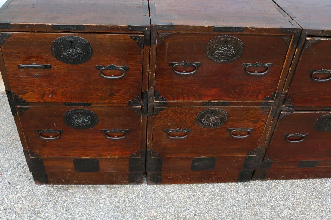 Lot of 4 Mahogany 2 Draw Cabinets - 10