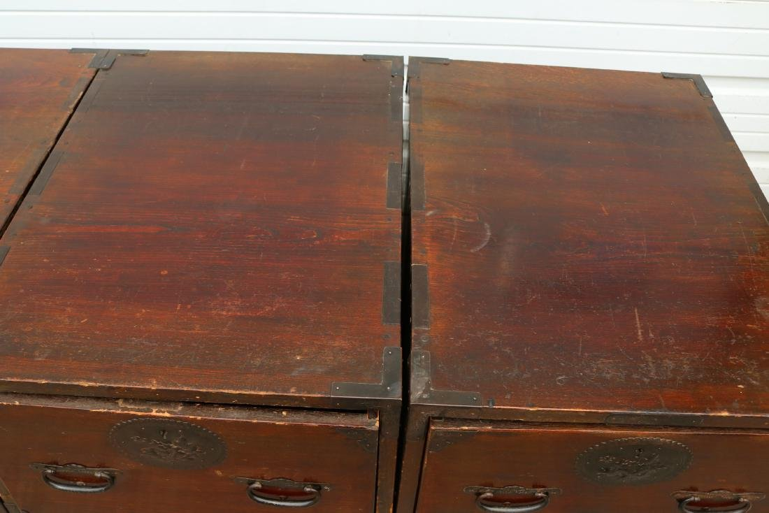 Lot of 4 Mahogany 2 Draw Cabinets - 6