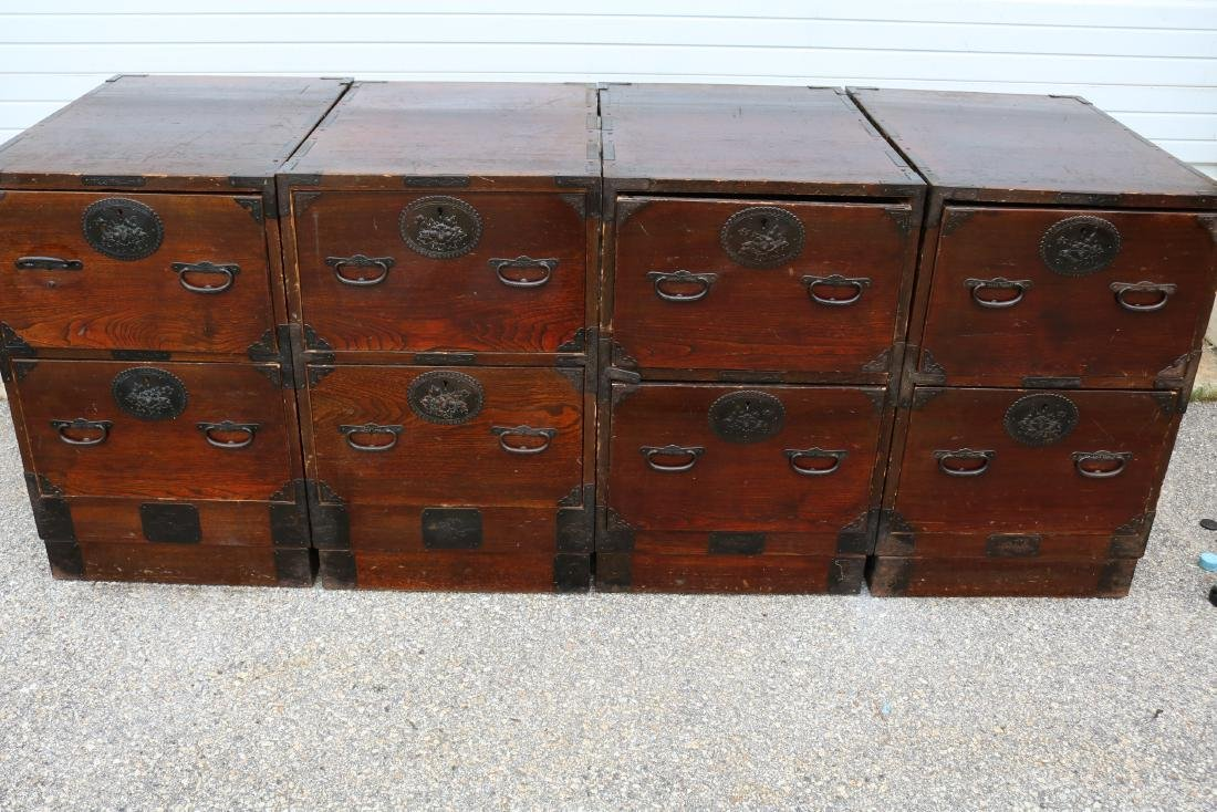 Lot of 4 Mahogany 2 Draw Cabinets - 9