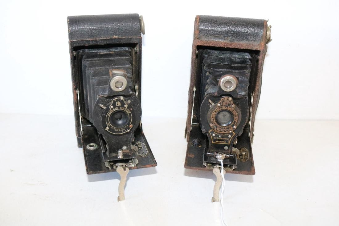 Pair of Antique Cameras, Hawkeye & Kodak #2