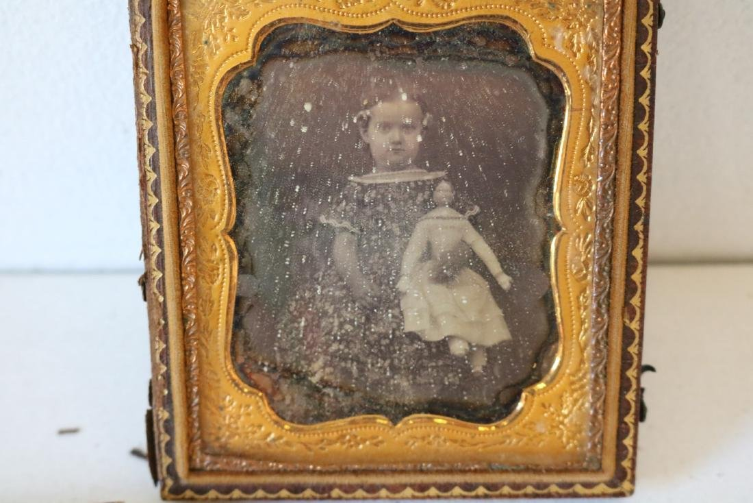 Lot of 4 Daguerreotype & Tin Photos, Girl w/ Doll - 4