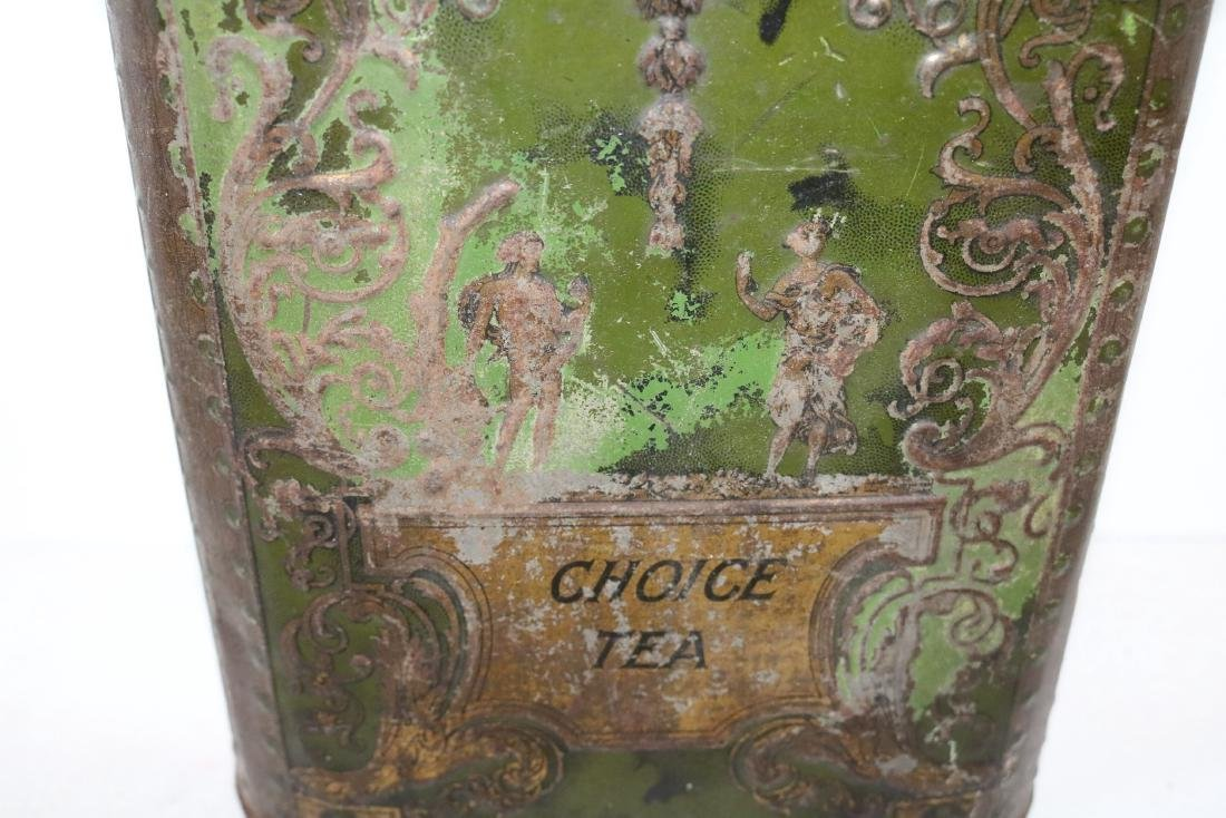"Antique ""Choice Tea"" Tin - 2"