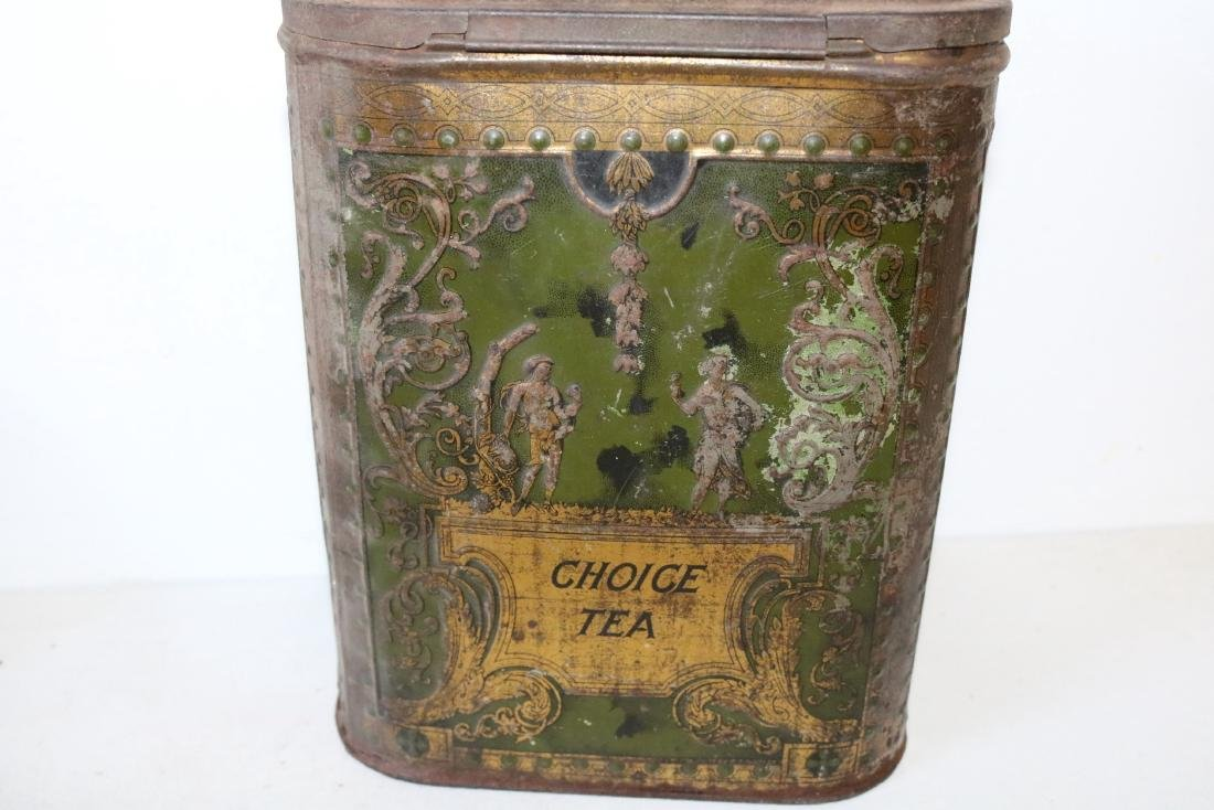 "Antique ""Choice Tea"" Tin - 3"