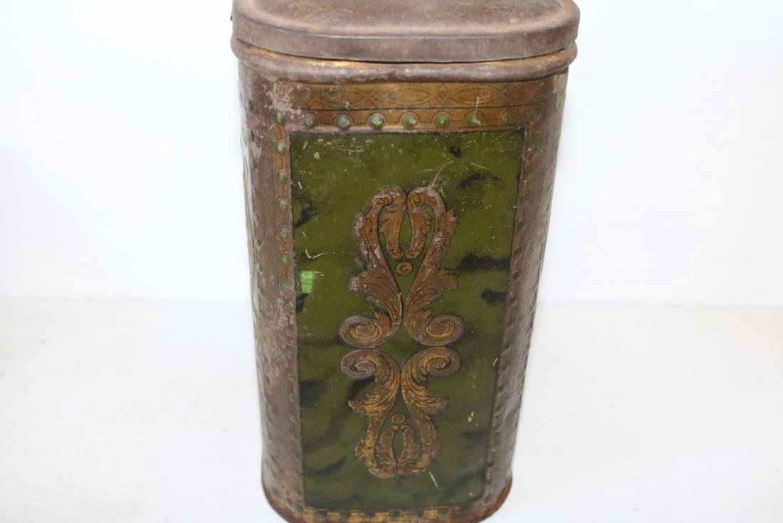 "Antique ""Choice Tea"" Tin - 4"