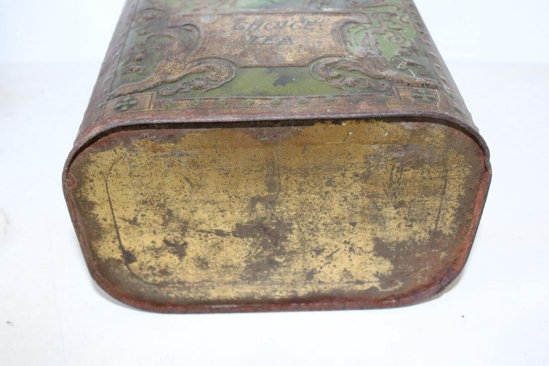 "Antique ""Choice Tea"" Tin - 6"
