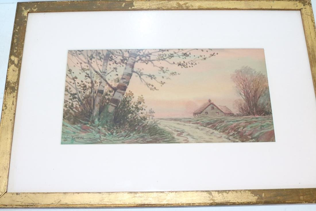 William Frederick Paskell Water Color Landscape