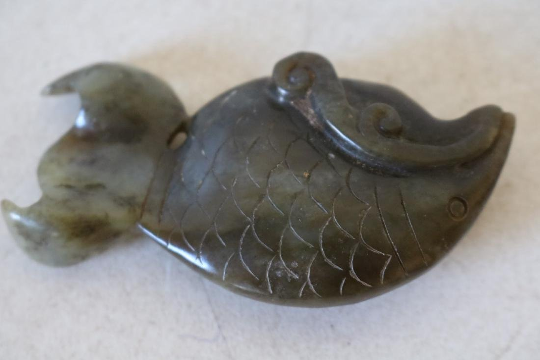 Carved Jade Fish Pendant