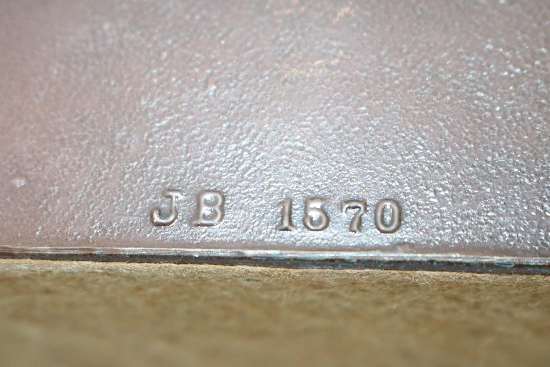 Pair Helvetiorum Fedei AC Virtuti Bronze Lion Bookends - 6