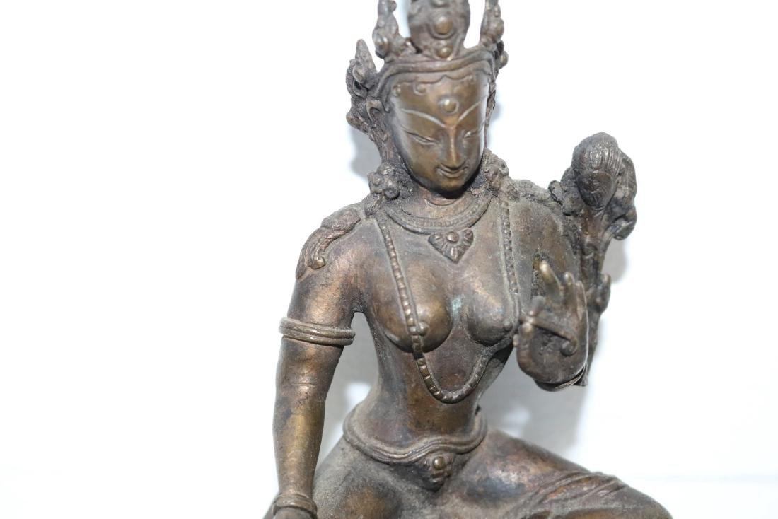 Asian Goddess Tara Bronze Statue - 2
