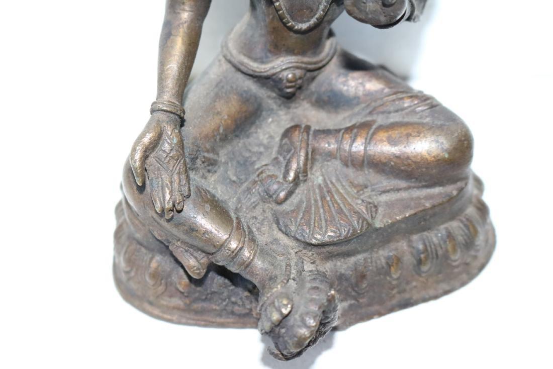 Asian Goddess Tara Bronze Statue - 3