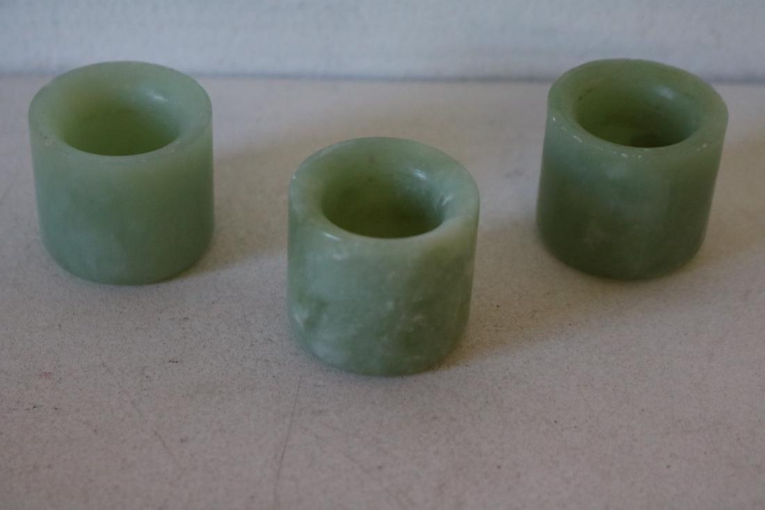 3 Pieces Jade Thumb Rings