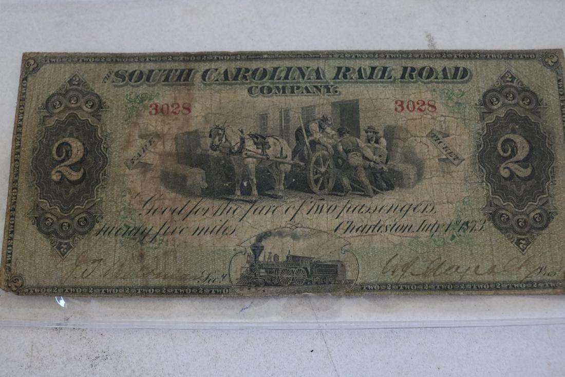 1873 South Carolina Railroad 2 Passenger, 25 Mile Fare