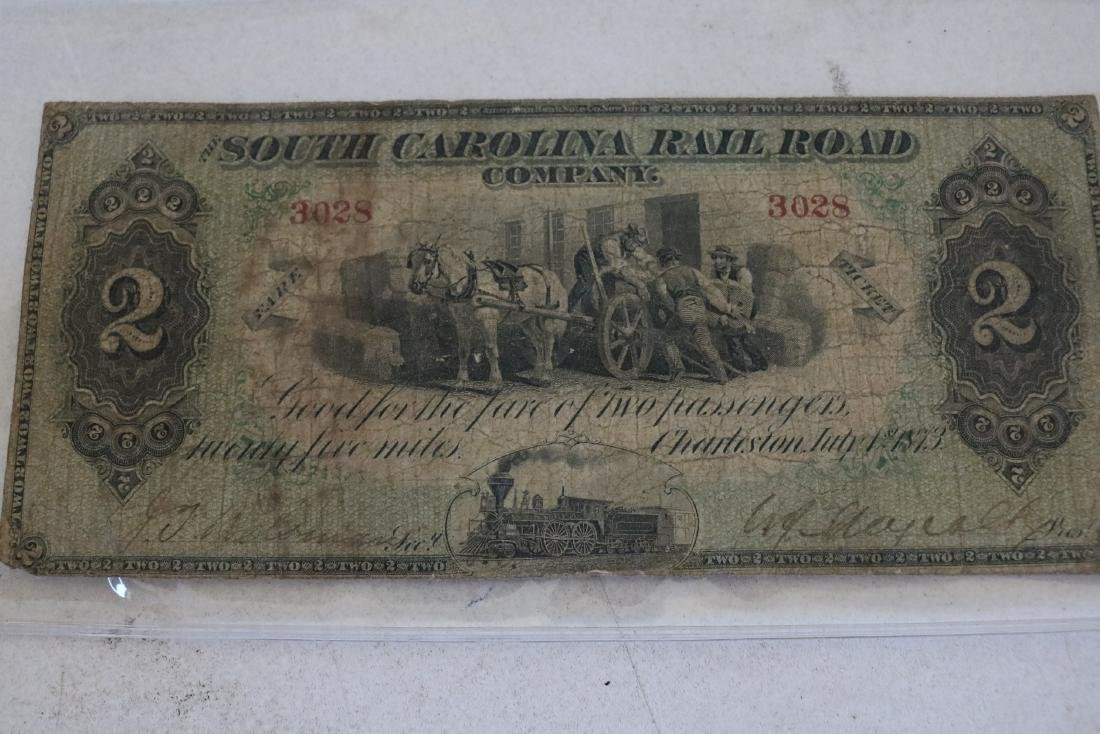 1873 South Carolina Railroad 2 Passenger, 25 Mile Fare