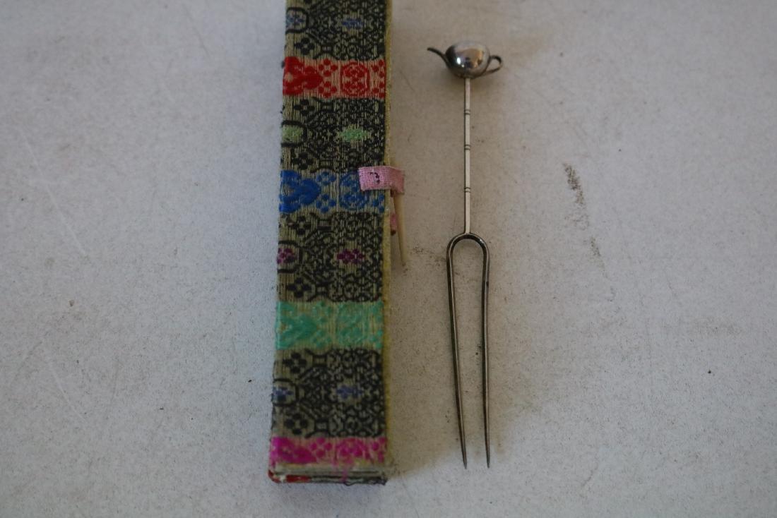 Asian Hair Comb/Pick/Pin with Tea Pot